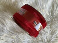 """Celebrate It Red Velvet Wired Ribbon Holiday Christmas 2 1/2 in 2.5"""" x 5 yd New"""