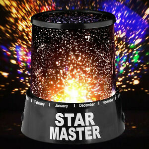LED PROJECTOR ROTATING LAMP MOON SKY STARRY STAR NIGHT LIGHT BABY KIDS BEDROOM