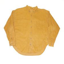 TWEEDS Yellow Cotton Corduroy Long Sleeve Shirt Mens L