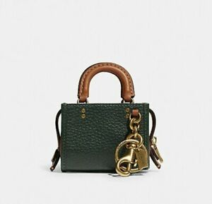 COACH 1941 Rogue Mini Charm Amazon Green NWT SOLD OUT