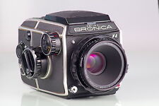ZENZA BRONICA EC-TL + NIKKOR-P.C 2.8/75 + VIEWFINDER WLF 120 EXCELLENT CONDITION