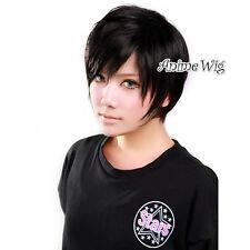 DuRaRaRa!! Orihara Izaya Black Short 30CM Anime Cosplay Wig + Wig Cap