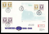 3 Lot Portugal Madeira 1980 Overprint Registered FDC First Day Cover
