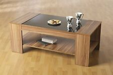 Stunning New Designer Coffee Table in Black and Walnut Living Room furniture
