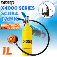 DIDEEP 1L SCUBA Oxygen Diving Tank Snorkeling Equipment Breathing Valve Set