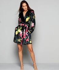 Ted Baker floral print 'Citrus Bloom'  dressing gown / Robe. 12-14 UK. Designer