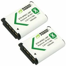 Wasabi Power Battery for Sony NP-BX1, NP-BX1/M8 (2-Pack)