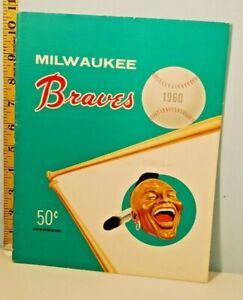 1960 Milwaukee Braves Baseball Yearbook w/Extras Manny's Souvenir Price List