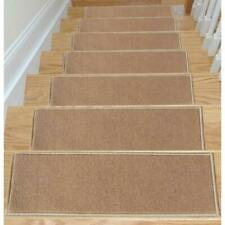 Ottomanson Dark Beige 8.5 in.x26.5 in. Non-Slip Stair Tread Cover (Set of 7)