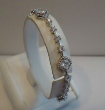 925 STERLING SILVER LADIES FINE TENNIS BRACELET W/ 3.50 CTS DIAMOND/ 7 1/2 ''