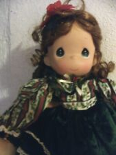 2004  Precious Moments Christmas doll, Bette, 15-in, original dress & wrist tag