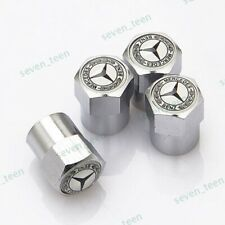 4x For Mercedes-Benz Car Tire Valve Stems Caps Wheel Air Valve Covers Styling