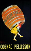 Cognac Pellisson Vintage Liquor Advertising Poster Canvas Giclee Print 24x36 in.