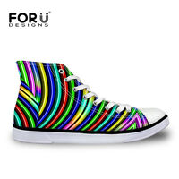 Mens Casual Shoes Fashion Striped Man Canvas High Top Sport Sneakers Ankle Boots