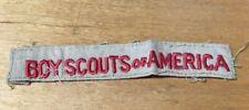 BOY SCOUTS SHIRT STRIP PATCH 1922-1945 TAN CLOTH SINGLE RED LINE