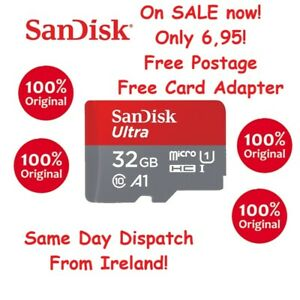Genuine SanDisk 32 Gb Micro SD memory CARD HC class 10  NEW 98mb/s card adapter