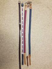 Lot of 5 Vintage Mens Belts Size 32 & one 34