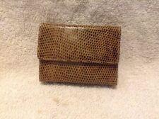 Vintage Judith Leiber Ladies Small Wallet Snake Skin Brown Black Multi-Color
