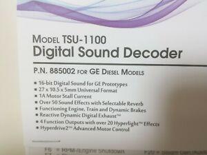 SoundTraxx 885002 Tsunami2 TSU-1100 Digital Sound Decoder 1 amp GE Diesels HO