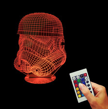 Star Wars Dekolampe Storm Trooper Hologramm Deathstar LED 3D Dekoration NEW!