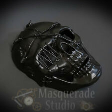 Men's Steampunk Full Face Skull Halloween Costume Masquerade Mask [Black]