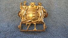 VINTAGE REESE  NEW JERSEY RAILROAD POLICE HAT BADGE CENTRAL RAILROAD OF N. J.