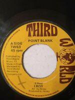 """I Roy – Point Blank 7"""" Vinyl Single 1977"""