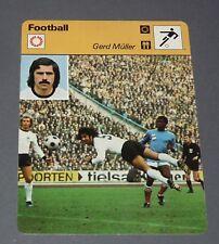 FICHE FOOTBALL 1974 GERD MÜLLER DEUTSCHLAND BRD RFA BAYERN MÜNCHEN DER BOMBER