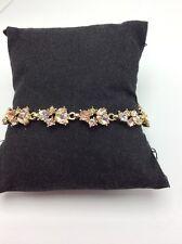 $68 Givenchy Austrian Crystal Gold Tone Flex Bracelet GV 736A