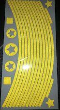 Yellow reflective Wheel Stickers Mountain bike Rims Reflex UK SELL
