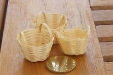 1:12 SCALA 3 fatto a mano cesti di bambù Dolls House miniatura accessorio Negozio XY