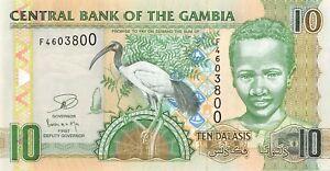 Gambia 10 Dalasis 2013 Unc pn 26a.3
