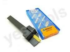 12mm Indexable Parting Off Tool Right Hand Lathe + 10 2mm Carbide Korloy Inserts