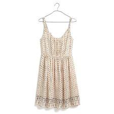 Madewell Womens Dress Silk Sun Isle Moroccan Floral Sleeveless Paisley Size 0
