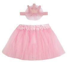 NUEVO BabyTown - Bebé Niña Lindo Rosa y Blanco Tutú Con Conjunto De Diadema