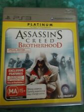 Assassins Creed Brotherhood Special Edition Platinum PlayStation 3 PS3 + Booklet