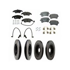 Audi Q5 S4 S5 Front and Rear Vented Disc Brake Rotors with Pads and Sensors Kit