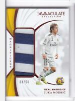 2018-19 Luka Modric #/50 Patch Panini Immaculate Real Madrid Soccer