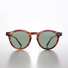 Tortoiseshell Round Unisex Classic Atticus Finch Vintage Sunglass - Mason