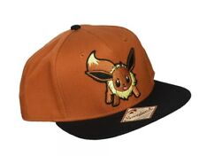 BIOWORLD Pokemon Eevee Brown Color Block Snapback Hat New With Tag