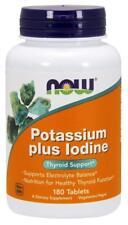 NOW FOODS, POTASSIUM plus IODINE, Kalium-Plus-Jod, 180 Tabletten SUPER PREIS