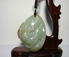 """2.2"""" China Certified Nature Nephrite Hetian Jade Fortune Pixiu and Ruyi Pendants"""