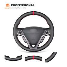 Black Soft Genuine Leather Steering Wheel Cover for Hyundai Veloster 2011-2018