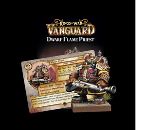 DWARF SUPPORT PACK: FLAME PRIEST - KINGS OF WAR - MANTIC GAMES