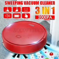 3 in 1 Smart Auto Sweeping Robot Vacuum Cleaner 2000PA Strong Suction Clean