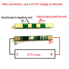 10pcs 1S 3.7V 3A 18650 lithium li-ion BMS PCM battery charger protection board