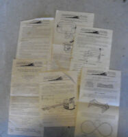 Lot of 6 Vintage American Flyer Instructions Sheets Look