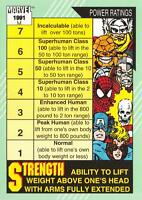 STRENGTH & SPEED / Marvel Universe Series 2 (Impel 1991) BASE Trading Card #159