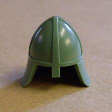 Lego Ritterhelm grün ( Helm Ritter Zubehör Figuren Burg Castle sand green ) Neu