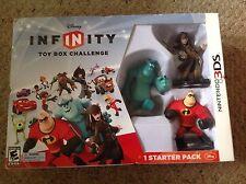 New Disney Infinity Starter Pack.  Nintendo 3 DS. Box shows slight wear.,